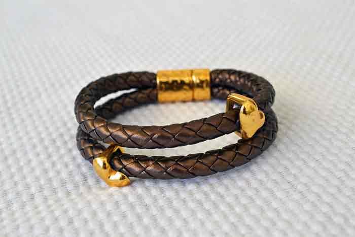 Make Slide Knot Leather Bracelets with Beads
