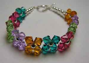 Instructions on how to make a crystal bracelet